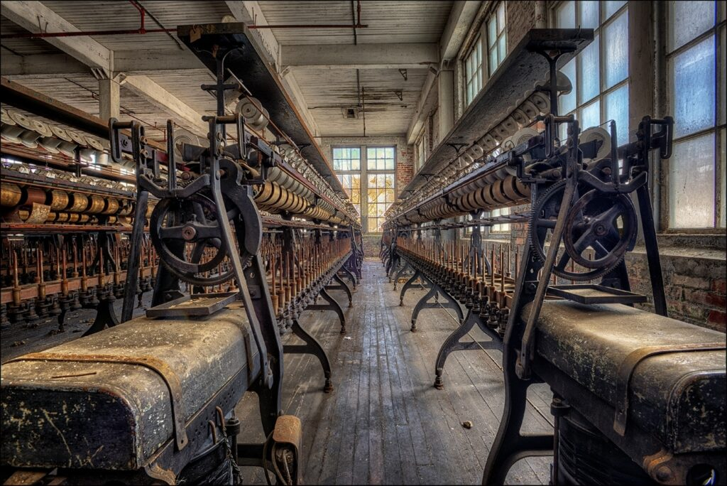 """""""Lonaconing Silk Mill Spooling Machines"""" by Dick Pelroy of NBCC"""